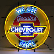 Chevrolet Neon Sign On