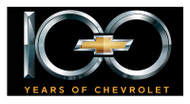 Chevy 100th Metal Sign