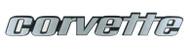 C3 Corvette Script Metal Sign
