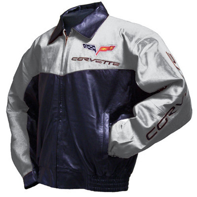 2005 Corvette For Sale >> C6 Corvette Elite Silver Lambskin Bomber Jacket | Corvette ...