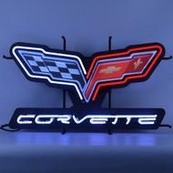 C6 Corvette Emblem Neon Sign