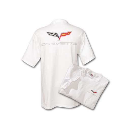 C6 Corvette White T-Shirt