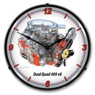 Dual Quad 409 V8 Clock