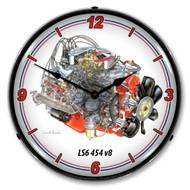 LS6 454 Backlit Clock