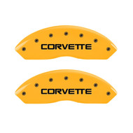 C4 Corvette Caliper Covers - Yellow (front)