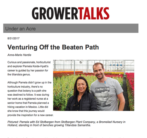 Grower Talks - Under One Acre