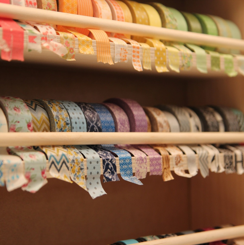 So many gorgeous colors of washi tape all stored in one product!