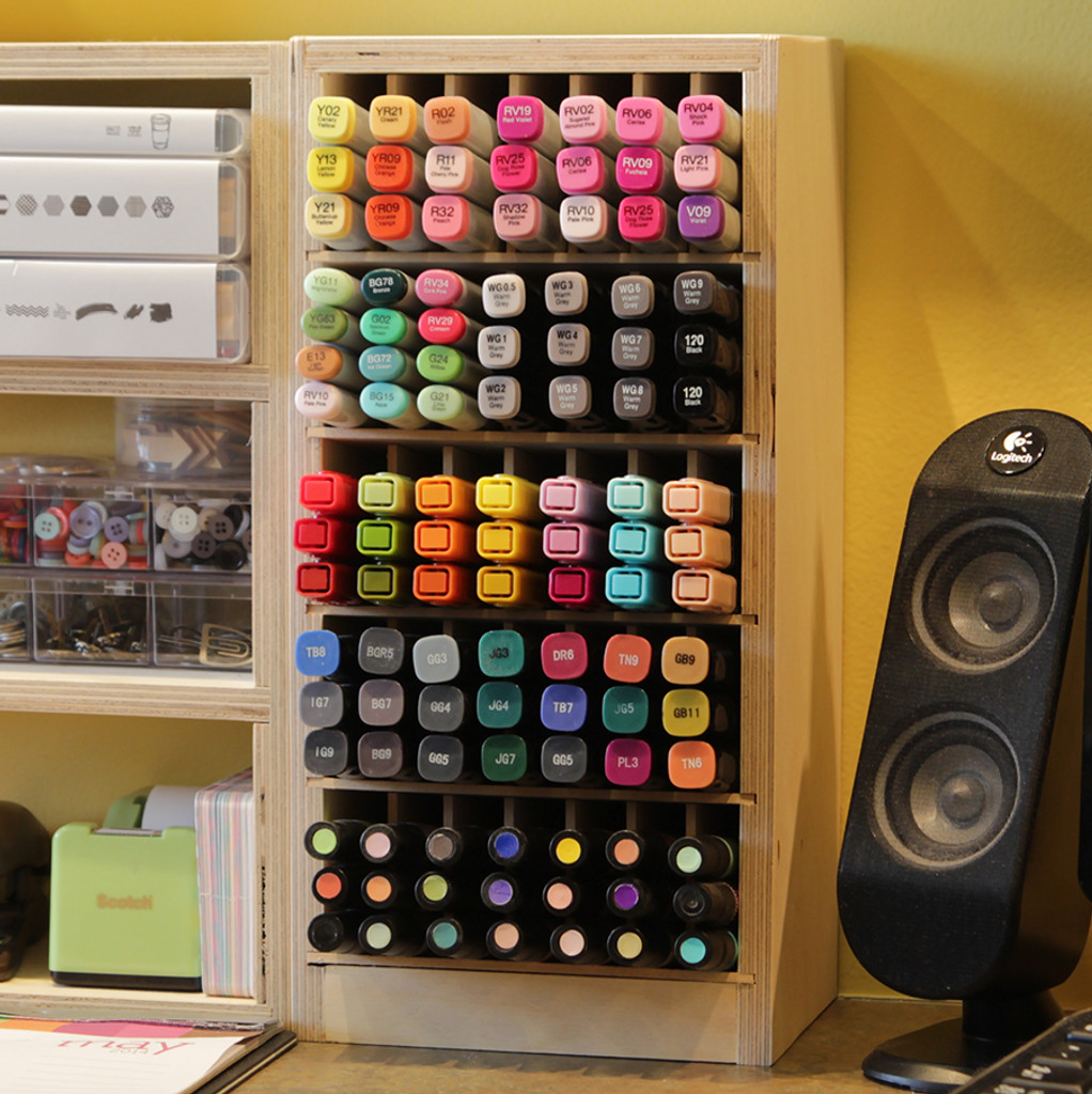 Stacked Marker Holders work great for any desk area!