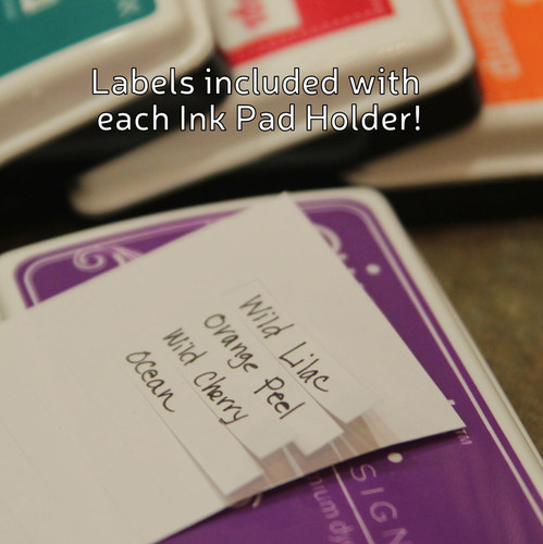 Label your ink pads with our provided labels.
