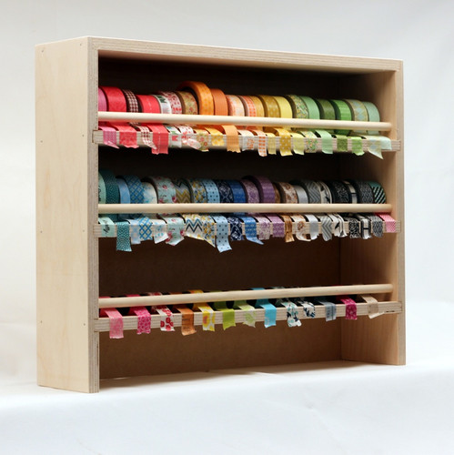 The Washi Tape Holder easy stores, dispenses, and displays your collection of washi tape.