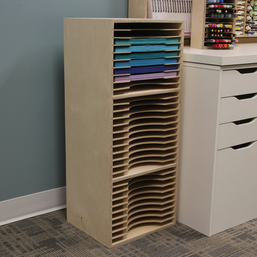 Three Tier 12x12 Paper Holder Stamp N Storage