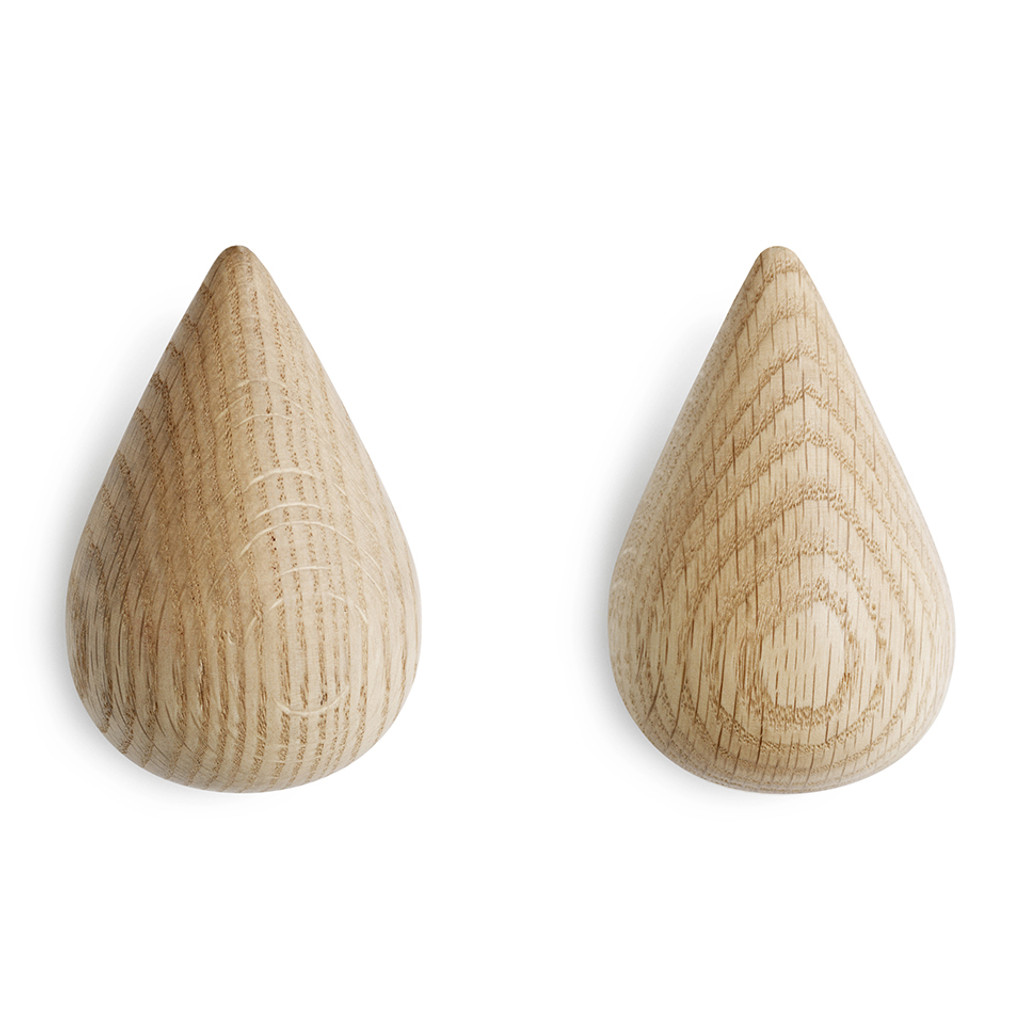 NORMANN COPENHAGEN - DROPIT HOOK NATURAL 2 PCS LARGE