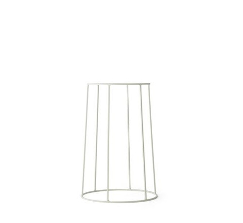MENU - WIRE PLANT STAND IN WHITE - MEDIUM