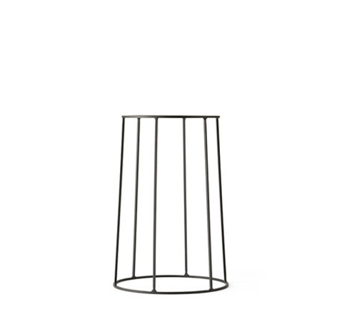 MENU - WIRE PLANT STAND IN BLACK - MEDIUM