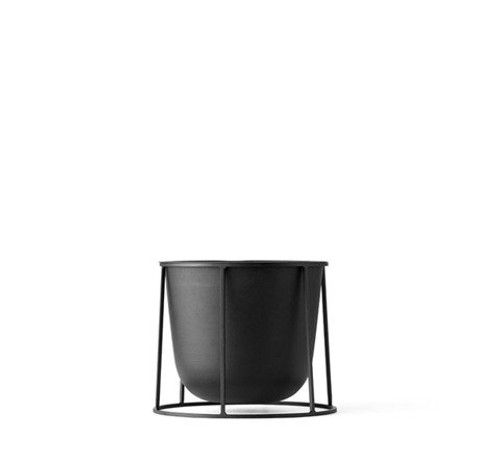 MENU - WIRE PLANT POT IN BLACK