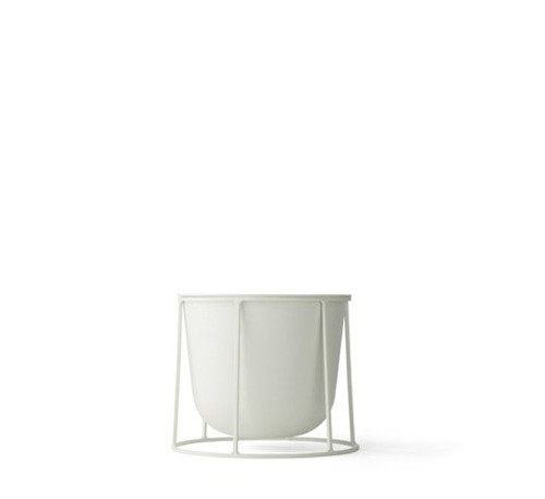 MENU - WIRE PLANT POT IN WHITE