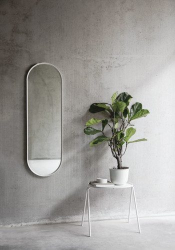MENU - NORM WALL MIRROR OVAL WHITE
