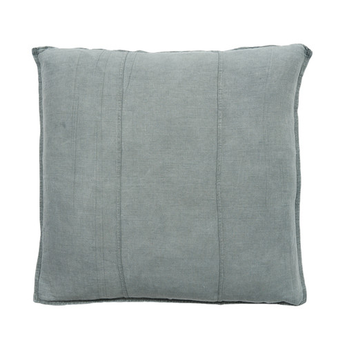 EADIE LIFESTYLE - LUCA CUSHION SILVER GREY LARGE