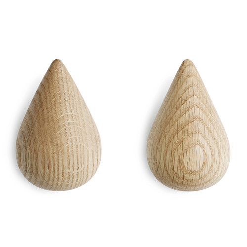 NORMANN COPENHAGEN - DROPIT HOOK NATURAL 2 PCS SMALL
