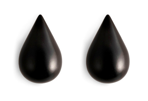 NORMANN COPENHAGEN - DROPIT HOOK BLACK 2 PCS LARGE