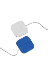 "Dura-stick Supreme 2""x2"" (5cm x 5cm) Square Electrodes - Blue Gel-40/case (42057)"