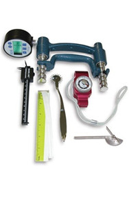 7-Piece Hand Evaluation Set - 200 lbs. (91 kg) - Dial Gauge Dynamometer 30 lbs. (14 kg) Pinch Gauge (43054)