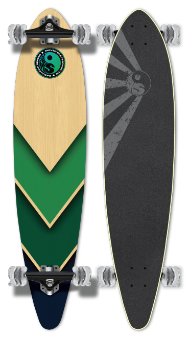 Shiver OCEAN ARROW Pintail with 70mm Shark Wheels