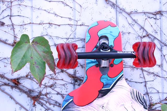 70mm, 78a Transparent Red-Black SIDEWINDER