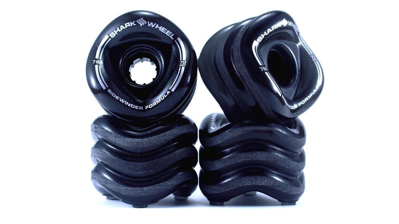 Shark Wheel 70mm, 78a Smoke-Black SIDEWINDER