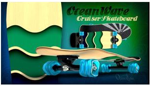 Shiver OCEAN WAVE with 60mm Shark Wheels