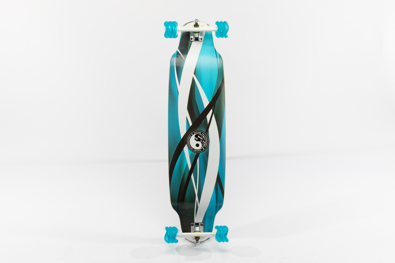 Shiver BLUE SWIRL DROP DECK with 70mm Shark Wheels