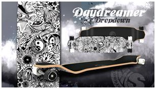 Shiver DAYDREAMER DROP DECK with 70mm Shark Wheels