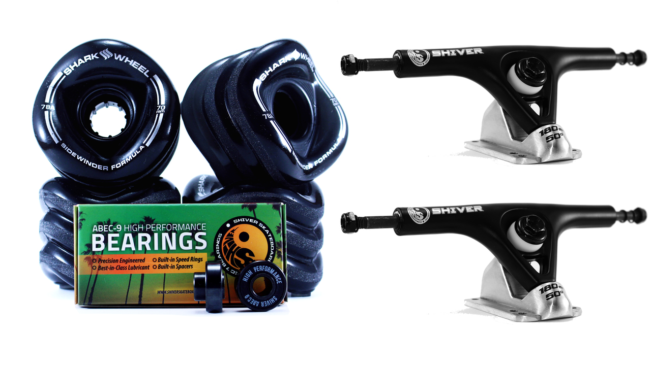 70mm Wheels, 180mm Trucks & Abec 9 Bearings Bundle