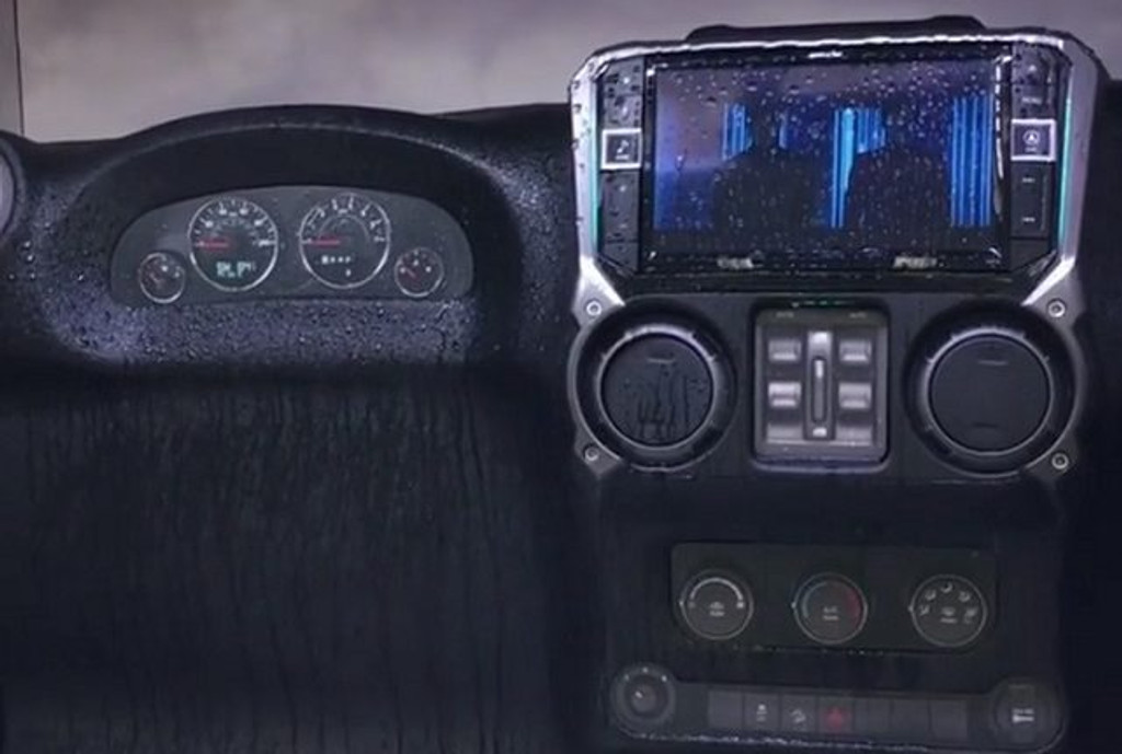 Alpine cuts costs of Restyle radios - ads water resistance to the Jeep offering.