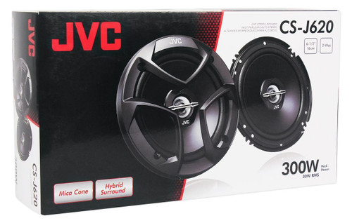 "JVC CSJ620 6.5"" Car Audio 2-WAY Coaxial Speakers System"