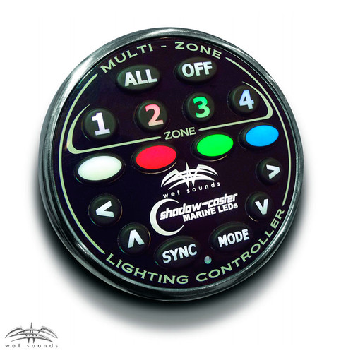 Wet Sounds 4-Zone RGB LED controller.