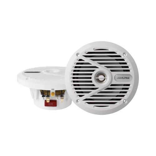 """Alpine SPS-M601W 6-1/2""""  Marine Coaxial 2-Way Marine Speaker"""