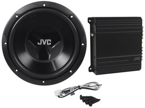 "JVC CSPK202 12"" DRVN Series Subwoofer/2-Channel DRVN Series Amp Package"