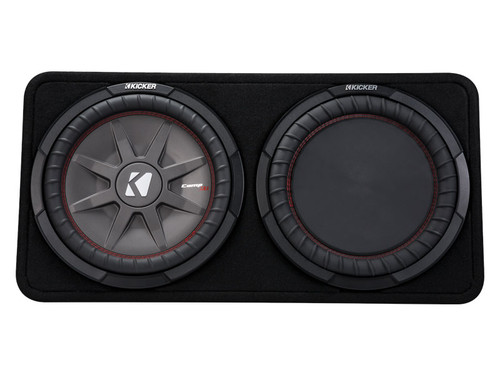 Kicker CompRT12 12-inch (30cm) Subwoofer in Thin Profile Enclosure, 2-Ohm, 500W