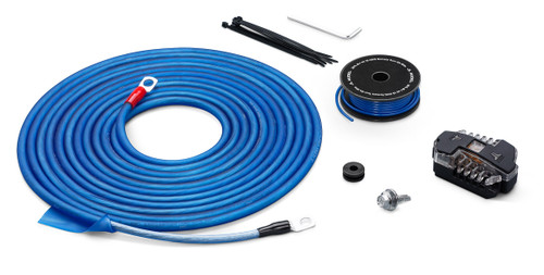 JL Audio XC-PCS8-1B 8 AWG MetaWire™ 12-Volt Power Connection System for Single Amplifier up to 400W Blue/Clear wire