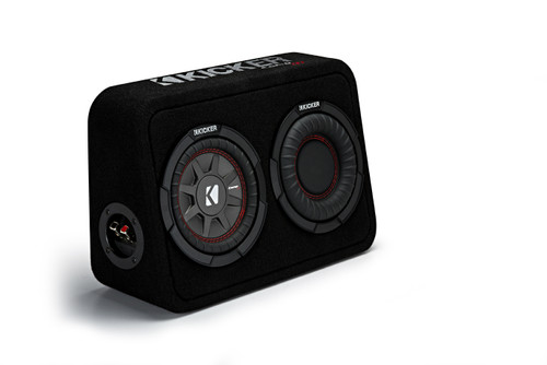 "Kicker TCWRT672 CompRT 6.75"" Subwoofer in Thin Profile Enclosure 2ohm 150W"