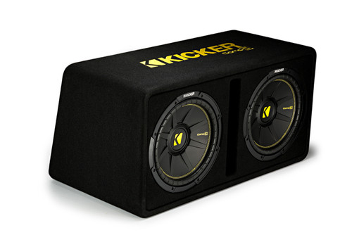 "Kicker DCWC122 Dual CompC 12"" Subwoofers in Vented Enclosure 2-Ohm"