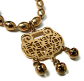 feng shui lock coin necklace