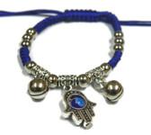 Blue cord hamsa bracelet