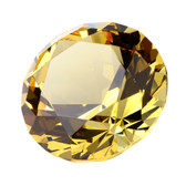 Yellow Diamond crystal to display in the Health sector.
