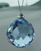 """Career"" Swarovski Blue Crystal Ball 30mm (ready to hang)"