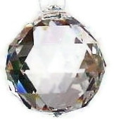 "Activating good Energy ""Faceted Crystal Ball 20mm"" SPECIAL PRICE"