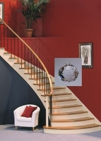 Cure for interior stairway facing front door hang a crystal for Feng shui bedroom door facing stairs