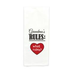 """Brownlow """"Grandma's Rules: What Rules?"""" Flour Sack Dish Towel"""