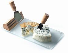 Oak and Olive Geneva Rubberwood Cheese Board